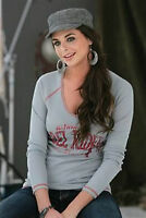 SOUTHERN THREAD Cinch REBEL RIDER Thermal Long Sleeve V-Neck Shirt SSK5110000