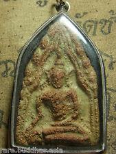 Phra Khun Paen,Phan,Kru Ban Krang,Supanburi ,Phim Klang Pla Buddha Amulet