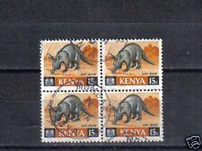 B5287 - KENYA - QUARTINA VIAGGIATA - ANIMALI