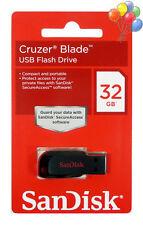 SanDisk Cruzer BLADE 32GB 32G USB Flash Pen Drive Memory Stick