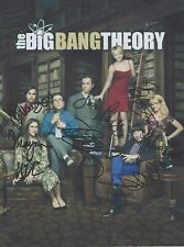 The Big Bang Theory Jim Parsons Kaley Cuoco Kunal Nayyar CAST (7) SIGNED RP 8x10