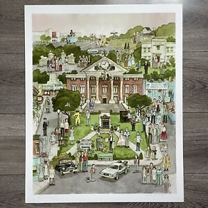 Scott C Campbell Back to the Future Print CLOCK TOWER HILL VALLEY 16x20