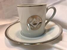 Medard De Noblat Limoges France Charleston Platine Expresso Cup & Saucer New