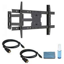 Full Motion LED Samsung Vizio TV Wall Mount Bracket 37 40 42 50 55 60 65 70 inch