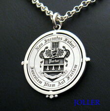PERSONALIZED YOUR FAMILY CREST PENDANT XL HEAVY CHAIN STERLING SILVER BY JOLLER