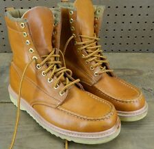1990's Unknown Brand Moc-Toe Work Boots / US Men size: 7 1/2 D / Used / Korea