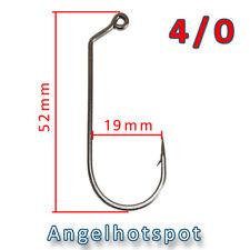 10 Jighaken | 4/0 | Gummifischhaken | Twisterhaken | Jigs | Angelhotspot X1