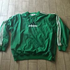 Vintage Adidas Windbreaker Pullover With Side Zip Green 90s Size XL/2XL