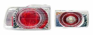 TENRAI 1990-1993 Honda Accord 4 Door Altezza Tail Light Lamp Pair Chrome finish