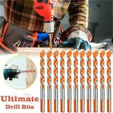10*Ceramic Drill Bit Glass Drilling Drill 6mm Metal Triangle Multifunctional Bit