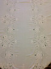 High Quality Tablecloth XL VTG-Hand-Stitch-Floral,Madeira-Bobbin-Lace 114 x 66""