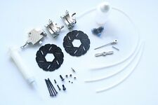 Front Hydraulic Brake system for HPI baja 5b 5sc ss 1/5 rc car gasoline Silver