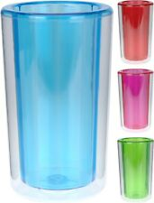 22cm Plastic Double Walled Ice Bucket Wine Cooler 4 Funky Colours To Choose From