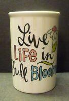 CHRISTMAS SALE* Live Life In Full Bloom- Heavy Ceramic Vase- Crisp floral decor