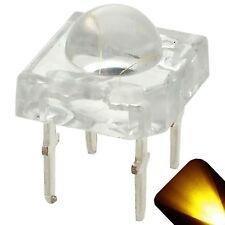 50 x LED 5mm Dome Superflux Yellow Gold Piranha LEDs Sign Car Lights Super Flux