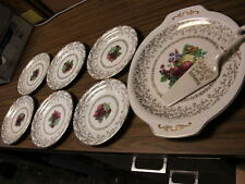 HARKER CAKE PLATE, SERVER, & DESSERT DISHES