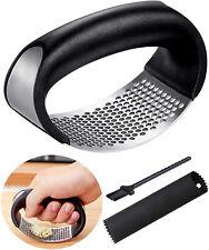 2pcs Stainless Steel Garlic Press Crusher Manual Rocking Mincer Squeezer Kitchen