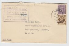 WW2 Press & Censorship Bureau Cover 1942 London 1s3d to USA - Postal History