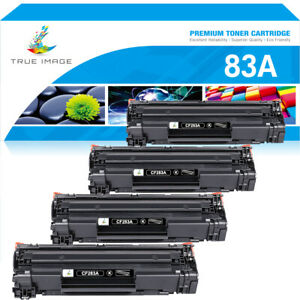 4 PACK Toner Compatible for HP 83A CF283A LaserJet Pro M127fn M127fw M125nw MFP