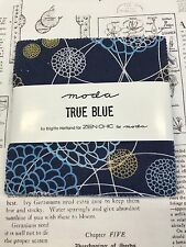 "True Blue by Zen Chic for Moda  - fabric charm pack - 42 x 5"" squares"