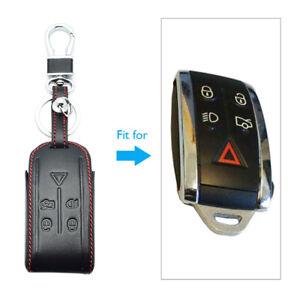 For Jaguar XK XF XJ8 XR8 XRR 2007- 2013 Leather Key Case Keychain Accessories