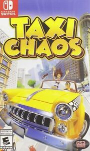 Taxi Chaos - Nintendo Switch [switch Action Arcade Racing Platformer] NEW