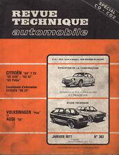 RTA revue technique automobile N° 363 VOLKSWAGEN POLO  AUDI 50