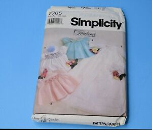 Simplicity Pattern 7705 Babies Christening Gown/ Smocking  NB- 12 Mo. CUT