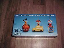 Snow globe Teacher Apple Water ball Present gift Christmas ornament #1 Best NEW