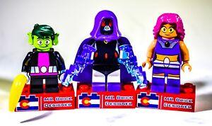 8 Pcs Minifigures Superboy Dove Hawk Aqualad lego MOC Raven Robin Beast Boy