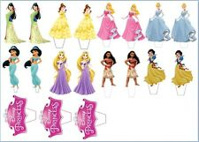 "19 x 3""  Disney Princesses CUPCAKE/CAKE TOPPERS STAND UP PRE - CUT EASY TO USE"