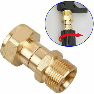 M22 14mm Brass Pressure Washer Swivel Joint Connector Gun Hose Adapter Fittings