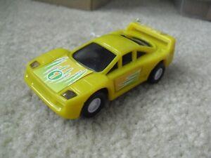 Vintage 1990s Golden Bright Yellow #1 Race Car Slot Car