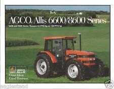Farm Tractor Brochure - AGCO Allis - 6670 et al 6600 8600 series - c1997 (F3581)