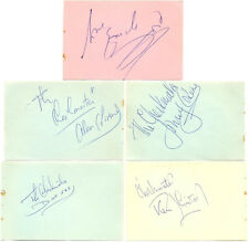 Emile Ford and The Checkmates signed autograph book pages 1960s singer/musicians