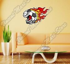 "Football Soccer Angry Screaming Ball Wall Sticker Room Interior Decor 25""X18"""