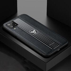 MOBILE PHONE CASE SAMSUNG GALAXY A12/A42/A51/A70/M30S/PLUS BLACK PU LEATHER MENS