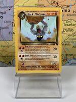 SHIPS SAME DAY Dark Machoke 40/82 Pokemon Card TCG Uncommon Team Rocket Set NM