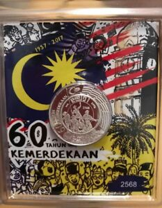 60th Malaysia Merdeka silver coins