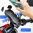 360° Wireless Fast Motorcycle Motorbike Charging Charger Mount Phone Holder