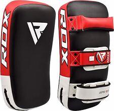 RDX Kick Thai Boxen Schutz Gebogen Arm-Auflage Muay Stanzen Schild Mitt Red DE