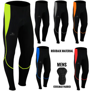 Mens Cycling Trousers Tights Thermal Padded Pants Cycle Long Legging NEW