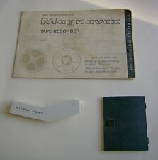 Magnavox 2TR107M REEL TAPE RECORDER PARTS manual, tape head cover & battery door