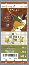 2011 WORLD SERIES RANGERS @ CARDINALS FULL UNUSED BASEBALL TICKET GAME #2