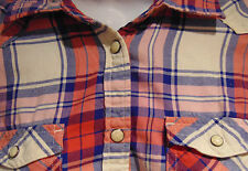 American Eagle Outfitters  Women's Small Plaid Top with Snaps