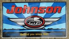 VINTAGE AUTHENTIC JOHNSON EVINRUDE OMC METAL MOTOR BOAT SIGN #4
