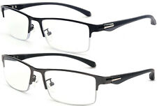 Trifocal Progressive Reading Glasses Blue Light UV Blocking Flexible TR90 Frame