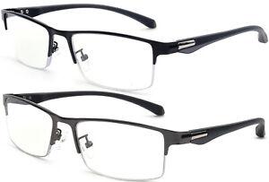 Trifocal Progressive Reading Glasses Blue Light UV Blocking Flexible TR90 Frame