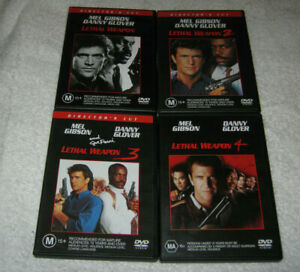 Lethal Weapon 1 + 2 + 3 + 4 - Director's Cut - Set - VGC - DVD - R4