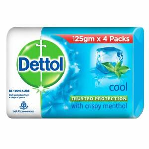 Dettol Cool Germ Protection Bathing Soap bar, 125gm Pack of 4